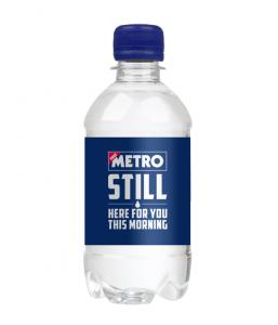 330ml Still Sparkling Glass Bottled Promotional Branded Mineral Water Still Cap